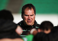Manawatu coach Dave Rennie addresses the team before the match during the Air NZ Cup preseason match between Manawatu Turbos and Wellington Lions at FMG Stadium, Palmerston North, New Zealand on Friday, 17 July 2009. Photo: Dave Lintott / lintottphoto.co.nz