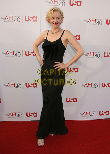 PENELOPE ANN MILLER.35th AFI Life Achievement Award Honoring Al Pacino held at the Kodak Theatre, Hollywood, California, USA..June 7th, 2007.full length black dress hands on hips .CAP/ADM/RE.©Russ Elliot/AdMedia/Capital Pictures