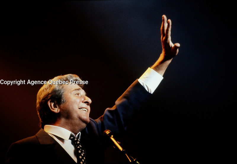 Montreal (Qc) Canada - august 1994  file Photo  -Gilbert becaud