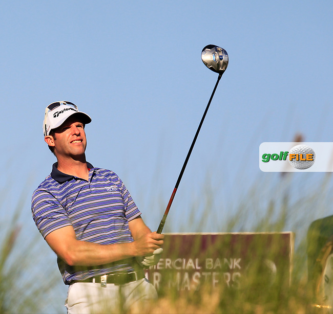 Bradley Dredge (WAL) tees off the 9th tee during Thursday's Round 2 of the 2015 Commercial Bank Qatar Masters held at Doha Golf Club, Doha, Qatar.: Picture Eoin Clarke, www.golffile.ie: 1/22/2015
