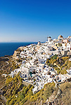 A view of Oia in Santorini, Greece.