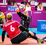 Lima, Peru -  28/August/2019 -  Canada takes on Peru in the bronze medal match in sitting volleyball at the Parapan Am Games in Lima, Peru. Photo: Dave Holland/Canadian Paralympic Committee.