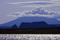 La Sal mountain behind The Lake Povel water resavour behind Glen Canyon Dam, Utah, USA