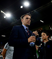 Phil Neville, manager of England Women during the Women's International friendly match between England Women and Australia at Ashton Gate, Bristol, England on 9 October 2018. Photo by Bradley Collyer / PRiME Media Images.