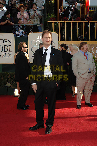 "RAINN WILSON.Red Carpet Arrivals - 64th Annual Golden Globe Awards, Beverly Hills HIlton, Beverly Hills, California, USA..January 15th 2007.globes full length black suit.CAP/AW.Please use accompanying story.Supplied by Capital Pictures.© HFPA"" and ""64th Golden Globe Awards"""