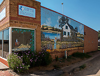 Murals painted on buildings in McLean Texas on Route 66