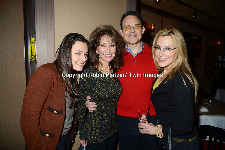 "Dolly Lenz and family and Susan Lucci attends the Ricky Paull Goldin premiere party and fundraiser for his new HGTV show ""Spontaneous Construction"" which will air on February 15, 2013. The party was on February 10, 2013 at Guy's American Kitchen in New York City."