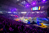2nd February 2020; Palau Sant Jordi, Barcelona, Catalonia, Spain; X Trail Mountain Biking Championships; general view of the start of the X-Trail on the Palau Sant Jordi