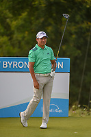 Andres Romero (ARG) watches his tee shot on 15 during the round 1 of the AT&T Byron Nelson, Trinity Forest Golf Club, Dallas, Texas, USA. 5/9/2019.<br /> Picture: Golffile | Ken Murray<br /> <br /> <br /> All photo usage must carry mandatory copyright credit (© Golffile | Ken Murray)