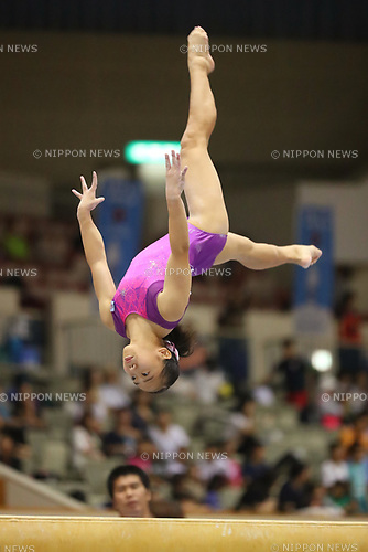 Soyoka Hanawa (), <br /> AUGUST 21, 2017 - Artistic Gymnastics : <br /> 48th All Japan Junior High School Championships <br /> Women's Individual All-Around <br /> Balance Beam <br /> at Kitakyushu City General Gymnasium, Fukuoka, Japan. <br /> (Photo by YUTAKA/AFLO)