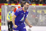 12.01.2013 Granollers, Spain. IHF men's world championship, prelimanary round. Picture show Jerome Fernandez in action during game between France vs Tunisia at Palau d'esports de Granollers