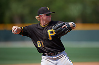 Pittsburgh Pirates Chase Simpson (63) during a minor league Spring Training game against the New York Yankees on March 26, 2016 at Pirate City in Bradenton, Florida.  (Mike Janes/Four Seam Images)