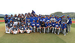 College of Southern Nevada and Western Nevada College teams pose after the final game at WNC  in Carson City, Nev. on Friday, May 6, 2016. <br />Photo by Cathleen Allison/Nevada Photo Source