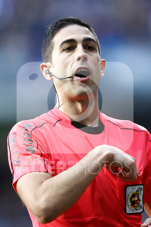 Spanish referee Inaki Vicandi Garrido during La Liga match. January 7,2016. (ALTERPHOTOS/Acero)