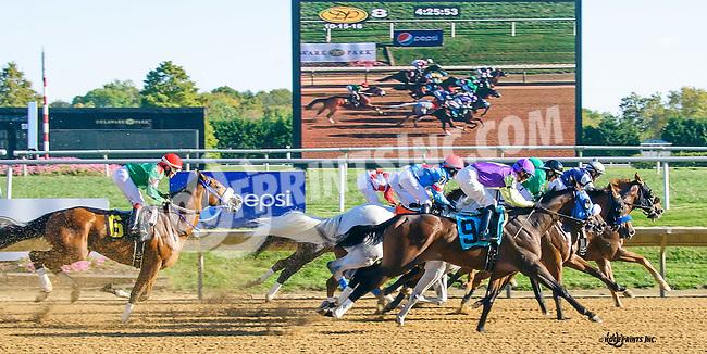 Sheikinator winning at Delaware Park on 10/15/16