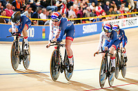 Picture by Alex Whitehead/SWpix.com - 01/03/2018 - Cycling - 2018 UCI Track Cycling World Championships, Day 2 - Omnisport, Apeldoorn, Netherlands - Laura Kenny, Elinor Barker, Ellie Dickinson and Katie Archibald compete in the Women's Team Pursuit first round.