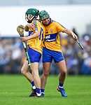 Kealan Guyler of Clare hugs team mate Conor Hegarty following their win over Waterford in  their Munster  championship round robin game at Cusack Park Photograph by John Kelly.