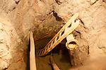 Inside Peña del Hierro Mine, Minas de Riotinto, Rio Tinto mining area, Huelva province, Spain