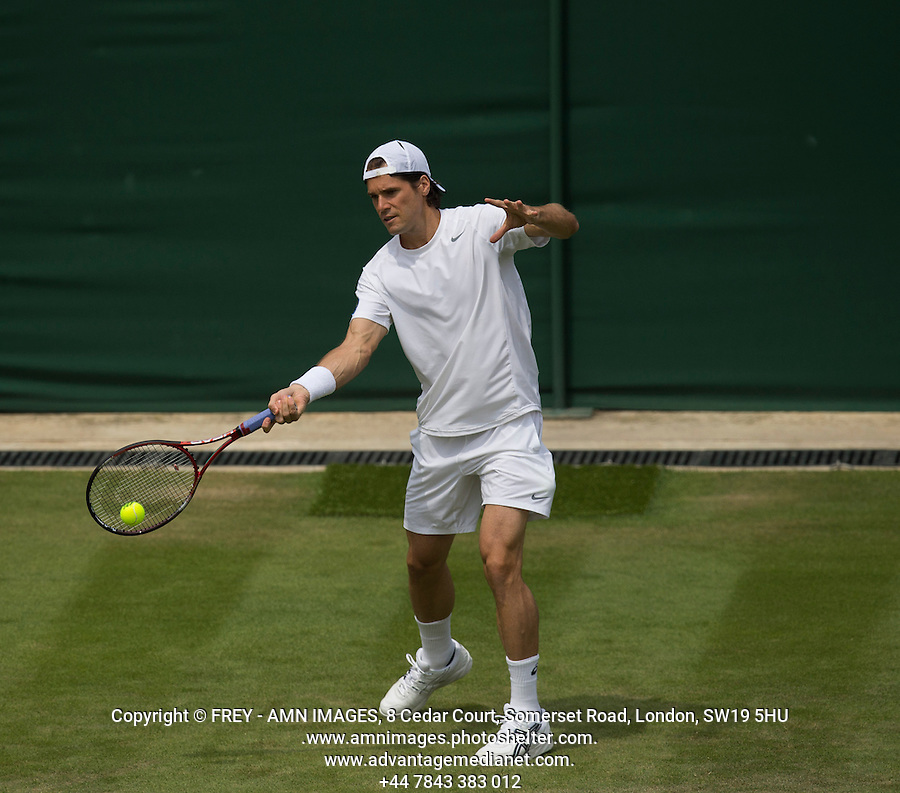 Tommy Haas<br /> <br /> Tennis - The Championships Wimbledon  - Grand Slam -  All England Lawn Tennis Club  2013 -  Wimbledon - London - United Kingdom - Tuesday 25th June  2013. <br /> &copy; AMN Images, 8 Cedar Court, Somerset Road, London, SW19 5HU<br /> Tel - +44 7843383012<br /> mfrey@advantagemedianet.com<br /> www.amnimages.photoshelter.com<br /> www.advantagemedianet.com<br /> www.tennishead.net