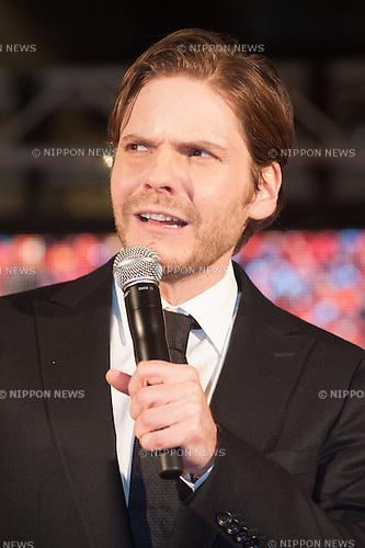 January 30, 2014 : Tokyo, Japan - Daniel Bruhl appears at the Japan Premiere for RUSH by Ron Howard in the Yurakucho Marion, Tokyo, Japan. (Photo by Yumeto Yamazaki/NipponNews)