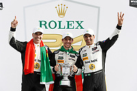 IMSA WeatherTech SportsCar Championship<br /> Rolex 24 Hours<br /> Daytona Beach, Florida, USA<br /> Sunday 28 January 2018<br /> #5 Action Express Racing Cadillac DPi, P: Joao Barbosa, Christian Fittipaldi, Filipe Albuquerque, podium<br /> World Copyright: Michael L. Levitt<br /> LAT Images<br /> <br /> ref: Digital Image _01I4127
