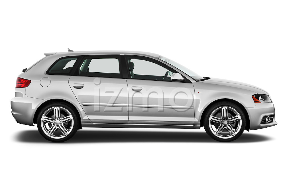 Passenger side profile view of a 2003 - 2012 Audi A3 Premium Sportback Hatchback.
