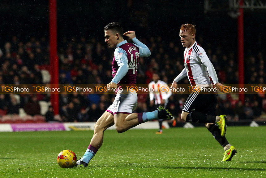 Aston Villa's Jack Grealish gets ready to take a shot at the Brentford goal during Brentford vs Aston Villa, Sky Bet EFL Championship Football at Griffin Park on 31st January 2017