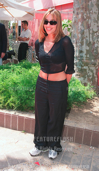 """13MAY99:  All Saints star MELANIE BLATT at the Cannes Film Festival to announce their new movie project """"Honest"""" which will be directed by Dave Stewart.                           .© Paul Smith / Featureflash"""