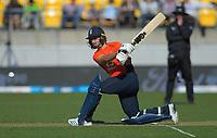 England's Lewis Gregory bats. Twenty20 International cricket match between NZ Black Caps and England at Westpac Stadium in Wellington, New Zealand on Sunday, 3 November 2019. Photo: Dave Lintott / lintottphoto.co.nz