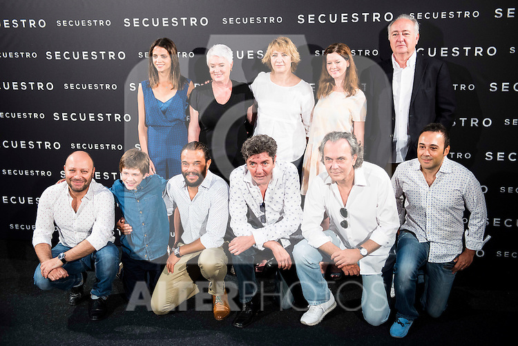 "Full cast of movie during the presentation of the spanish film ""Secuestro"" in Madrid. July 27. 2016. (ALTERPHOTOS/Borja B.Hojas)"