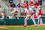 2 March 2013: St. Louis Cardinals third baseman David Freese in action during a Spring Training game against the Washington Nationals at Roger Dean Stadium in Jupiter, Florida. The Nationals defeated the Cardinals 6-2 in their first meeting since the NLDS series in October of 2012. Mandatory Credit: Ed Wolfstein Photo *** RAW (NEF) Image File Available ***