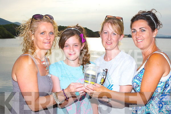 Helen O'Connor-Burke, Lauren Burke, Siobhain McSweeney and Marie Slattery at the Celebration of Light at Ross Castle on Sunday evening