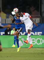 Santa Clara, California - Friday, July 11, 2014: DC United defeated the San Jose Earthquakes 2-1 during a Major League Soccer (MLS) match at Buck Shaw Stadium.