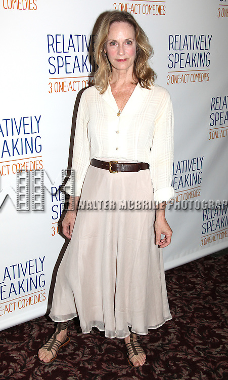 Lisa Emery.attends the Meet & Greet the Cast of Broadway's 'Relatively Speaking' at Sardi's in New York City.