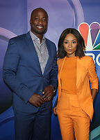 BEVERLY HILLS, CA - AUGUST 8: Akbar Gbajabiamila and Zuri Hall at the 2019 NBC Summer Press Tour at the Wilshire Ballroom in Beverly Hills, California o August 8, 2019. <br /> CAP/MPIFS<br /> ©MPIFS/Capital Pictures