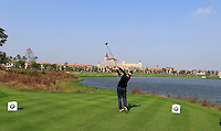 Joost Luiten (NED) tees off the 9th tee during Sunday's Final Round of the 2014 BMW Masters held at Lake Malaren, Shanghai, China. 2nd November 2014.<br /> Picture: Eoin Clarke www.golffile.ie