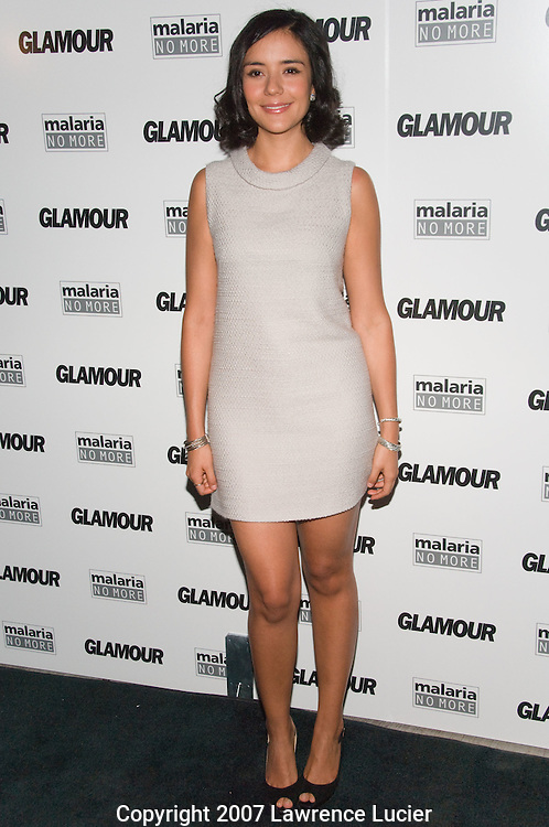 """NEW YORK - SEPTEMBER 04:  Actress Catalina Sandino Moreno arrives at Glamour Magazine's """"Fashion Gives Back"""" party September 4, 2007, at 421 Broome St in New York City.  (Photo by Lawrence Lucier)"""