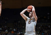 Jeff Powers of California shoots the ball during the game against Washington at Haas Pavilion in Berkeley, California on January 15th 2014.  California defeated Washington, 82-56.