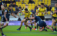 Hurricanes' Chase Tiatia in action during the Super Rugby match between the Hurricanes and Highlanders at Westpac Stadium in Wellington, New Zealand on Friday, 1 March 2019. Photo: Dave Lintott / lintottphoto.co.nz