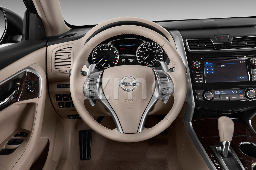 Steering wheel view of a 2013 Nissan Altima SL