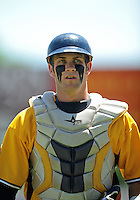 May 31, 2010; Grand Junction, CO, USA; Southern Nevada Coyotes catcher Bryce Harper against the Faulkner State Sun Chiefs during the Junior College World Series as Suplizio Field. Southern Nevada won the game 18-1. Mandatory Credit: Mark J. Rebilas-