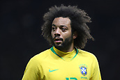 27th March 2018, Olympiastadion, Berlin, Germany; International Football Friendly, Germany versus Brazil; Marcelo (Brazil) watches as Brazil start another attack