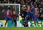 Crystal Palace's James Tomkins scoring his sides second goal during the premier league match at Selhurst Park Stadium, London. Picture date 28th December 2017. Picture credit should read: David Klein/Sportimage