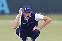 Chesson Hadley (USA) on the 8th green during Friday's Round 2 of the 118th U.S. Open Championship 2018, held at Shinnecock Hills Club, Southampton, New Jersey, USA. 15th June 2018.<br /> Picture: Eoin Clarke | Golffile<br /> <br /> <br /> All photos usage must carry mandatory copyright credit (&copy; Golffile | Eoin Clarke)