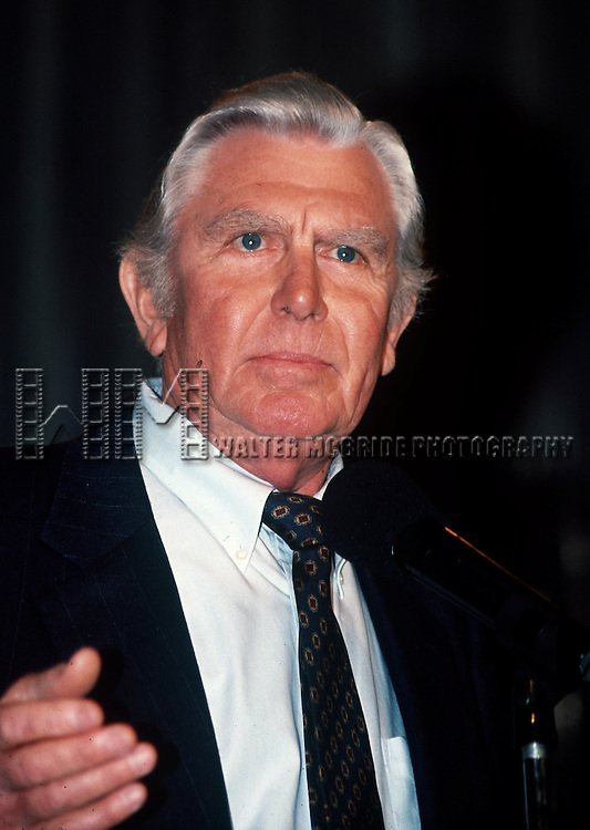 Andy Griffith at the Iris Awards at NATPE in New Orleans, Louisiana in January of 1992. © Walter McBride