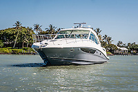 Sea Ray Sundancer from MarineMax cruises Gordon River in Naples, Florida, USA. Photo by Debi Pittman Wilkey