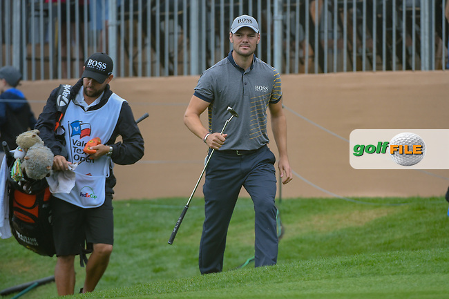 Martin Kaymer (GER) after he chips up tight on 18 during day 3 of the Valero Texas Open, at the TPC San Antonio Oaks Course, San Antonio, Texas, USA. 4/6/2019.<br /> Picture: Golffile | Ken Murray<br /> <br /> <br /> All photo usage must carry mandatory copyright credit (© Golffile | Ken Murray)