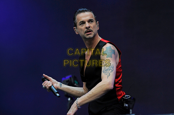 LONDON, ENGLAND - JUNE 3: Dave Gahan of 'Depeche Mode' performing at London Stadium on June 3, 2017 in London, England.<br /> CAP/MAR<br /> &copy;MAR/Capital Pictures