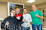 Radio Kerry Stars, L-R John Drummey, Brendan Fuller, Andrew Morrisey and Jerry O'Sullivan pictuerd last Thursday October 4th at the the Radio kerry reception, Maine St, Tralee, as they prepare for  the Movember Challenge in aid of Recovery Haven, Tralee.