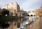Pulteney Bridge on the River Avon, Bath, England
